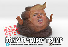 Donald Turd Trump Desk figurine